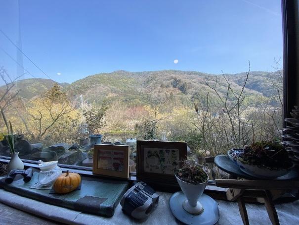 喫茶まんさく カウンター席からの眺望