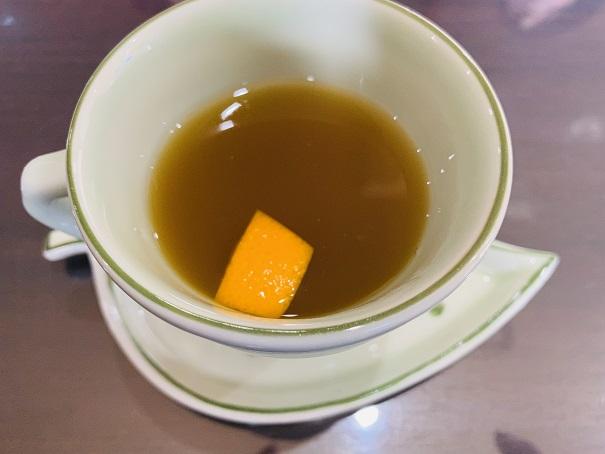 お食事処のどか 食後のお茶