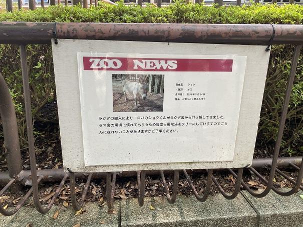 愛媛県立とべ動物園 ロバ案内