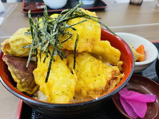 郷土料理潮風 鶏天丼アップ