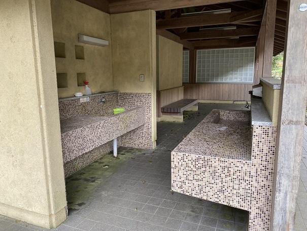 奥の湯ふれあいの里 炊事棟炊事場