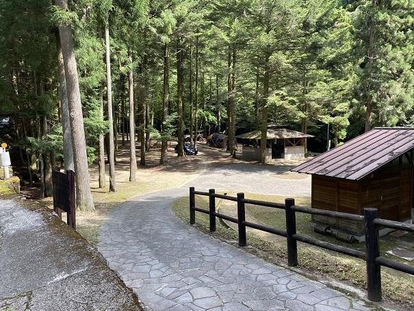 大滝山県民いこいの森 第一キャンプ場入口