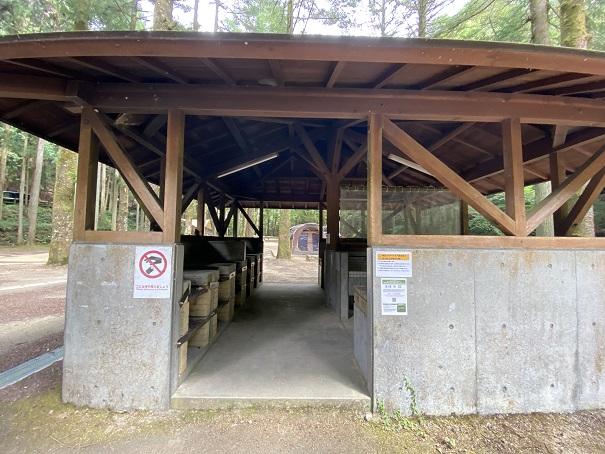 大滝山県民いこいの森 第1キャンプ場炊事場