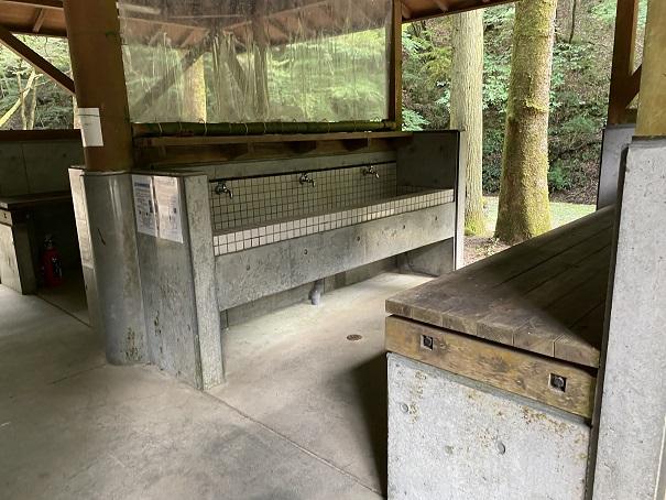 大滝山県民いこいの森 第1キャンプ場流し台