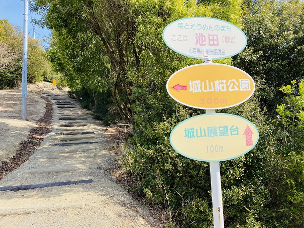城山桜公園 展望台への道