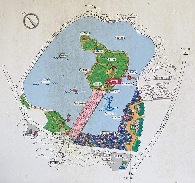 県立亀鶴公園 案内図