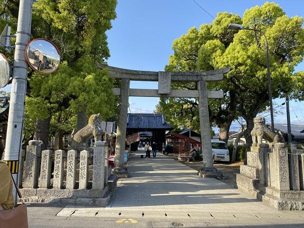 岩田神社入口