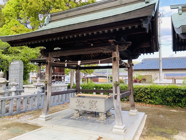 岩田神社 手水舎