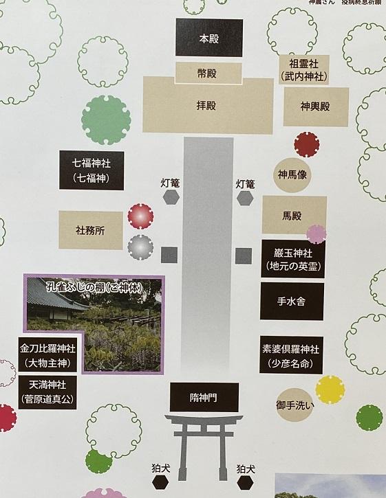 岩田神社 案内図