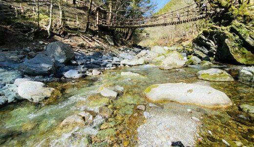 奥祖谷二重かずら橋キャンプ場 祖谷川上流で川遊び 三好市
