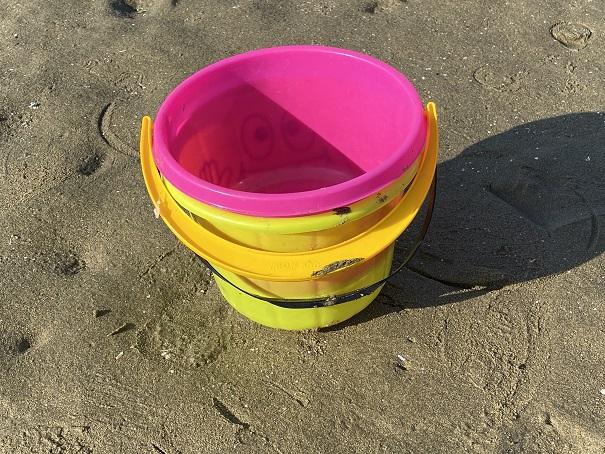 マテ貝潮干狩り用のバケツ