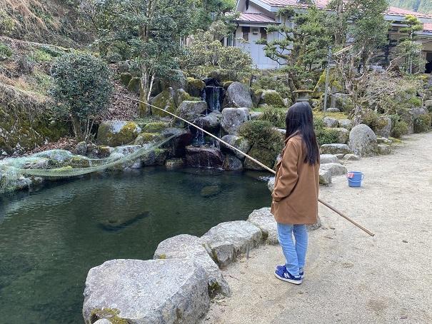 竹山荘 釣り堀