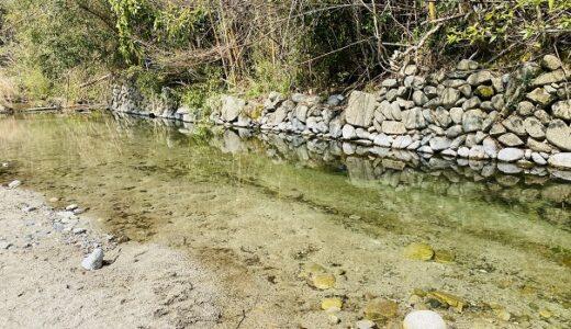 せせらぎ公園 石手川の川遊び水遊びスポット 松山市