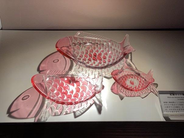 道後ぎやまんガラス美術館 鯛のお皿