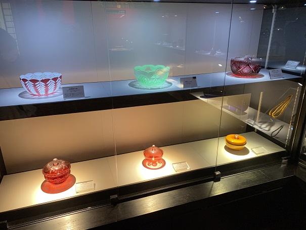 道後ぎやまんガラス美術館 大正時代の食器