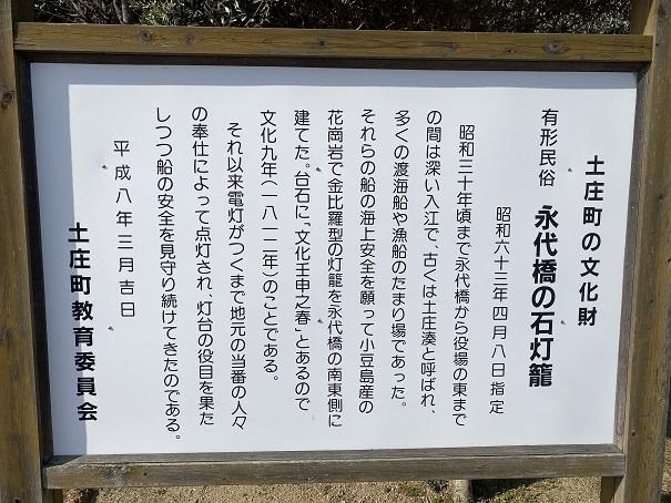 永代橋の石灯篭 説明