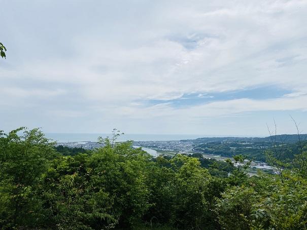 モネの庭 風の丘からの展望
