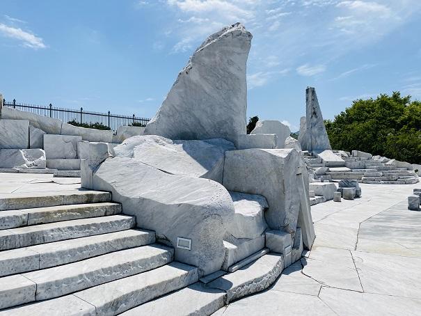 耕三寺博物館 未来心の丘 階段