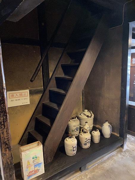 鞆の津の商家 急な階段
