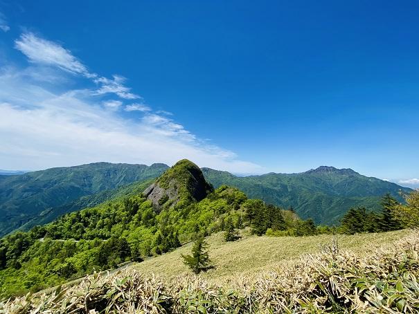 石鎚山系景色