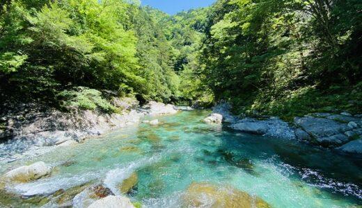 吉野川と名野川の合流点で川遊び 白猪谷オートキャンプ場 いの町