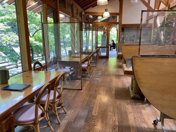 道の駅木の香 レストラン店内