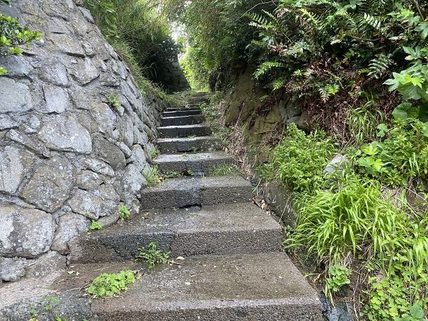 青島 弁天崎階段
