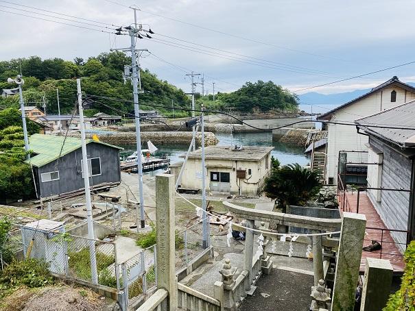 青島神社からの眺め