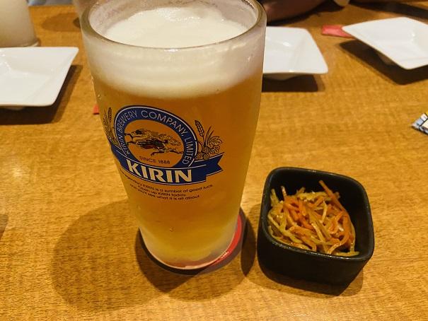 魚民丸亀店 ビールとお通し