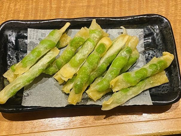 魚民丸亀店 枝豆カリカリ揚げ