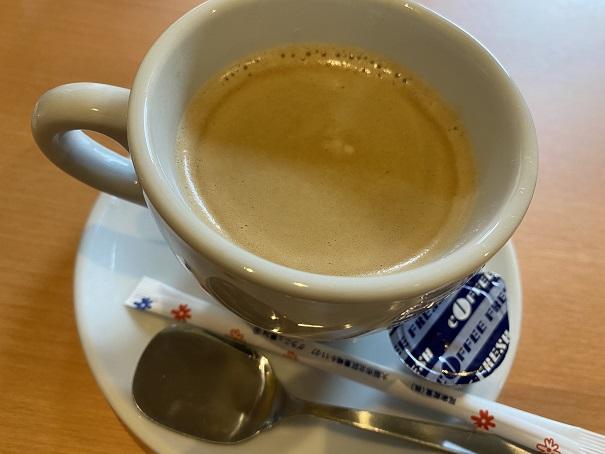 肉の近どう丸亀 ランチのコーヒー