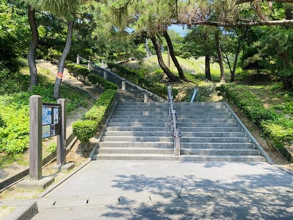 鷲羽山展望台 階段