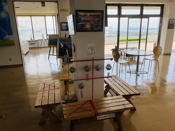 鷲羽山ビジターセンター テーブル