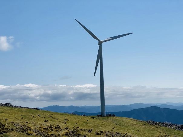 四国カルスト 梼原町風力発電