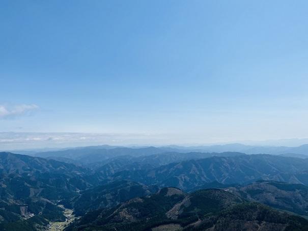 四国カルスト 源氏ヶ駄馬頂上からの景色