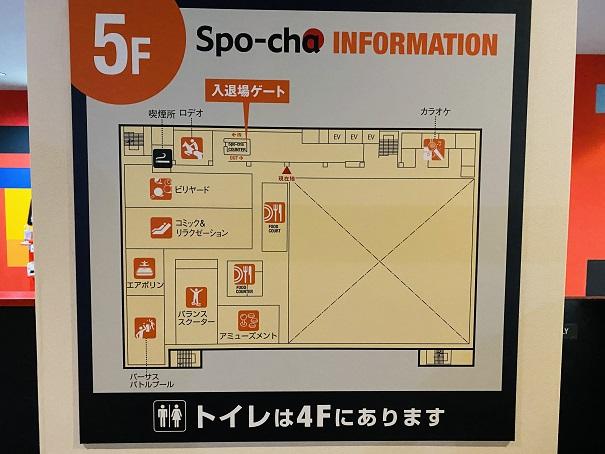 ラウンドワンスタジアム高松 5階案内図
