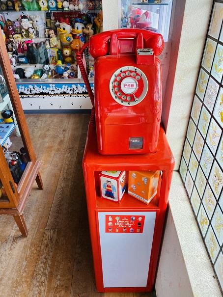 倉敷貯金箱博物館 赤い公衆電話貯金箱