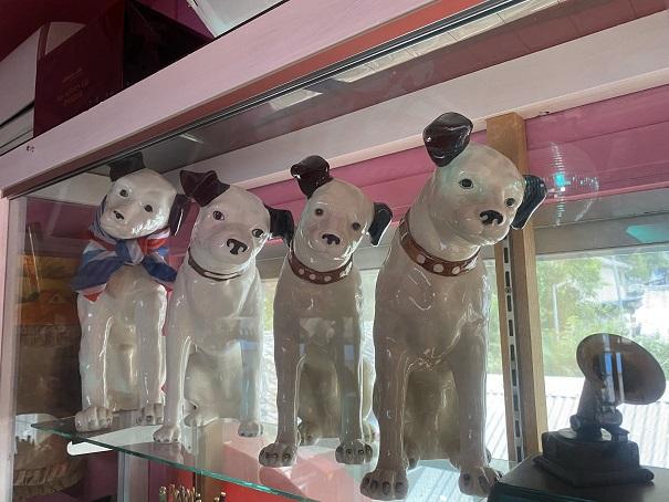倉敷Dog資料館4匹のビクターの犬