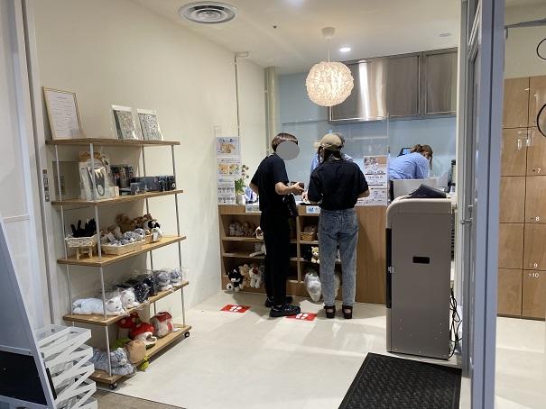 Moff animal cafeアリオ倉敷店受付