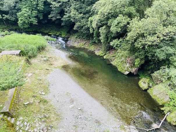 上から見た川田川