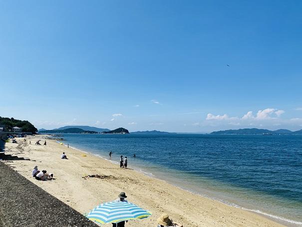笹尾海水浴場 ビーチ全体