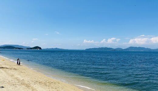 笹尾海水浴場 白い砂浜のきれいな瀬戸内海 高松市庵治町