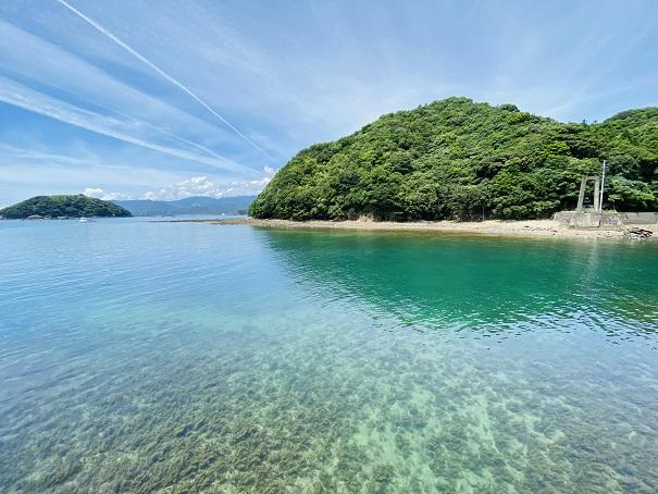 竹ヶ島 海