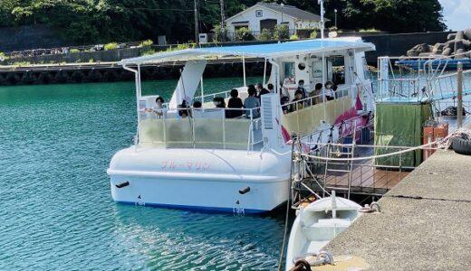 海中観光船ブルーマリン号 船の中からサンゴや熱帯魚観賞 海陽町