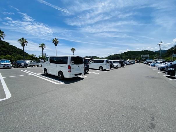 白浜海水浴場 駐車場