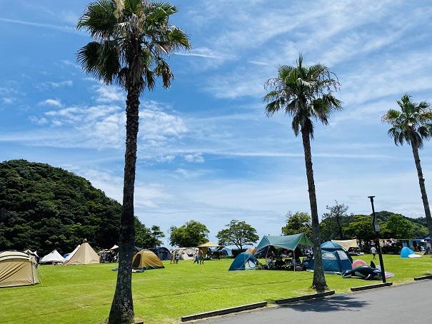 白浜海水浴場 キャンプ場