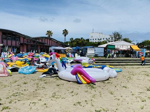 白浜海水浴場海の店