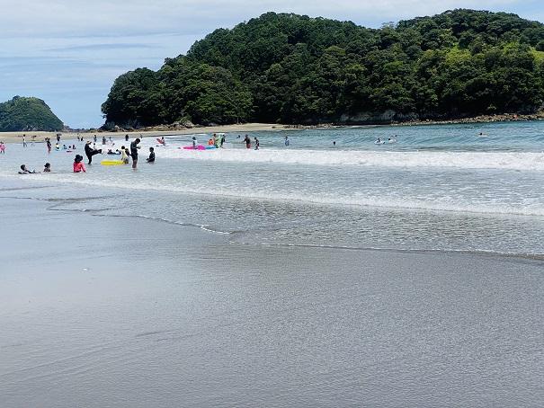 白浜海水浴場 海水浴