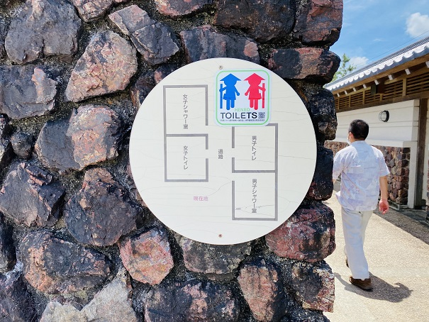 白浜海水浴場 トイレ案内図