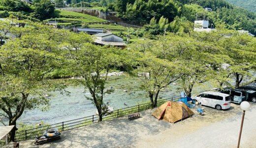 池川ふれあい公園オートキャンプ場 土居川の川遊び 仁淀川